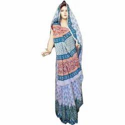 Designer Block Printed Saree