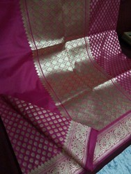 Banarasi Silk Mirror Work Silk Sarees