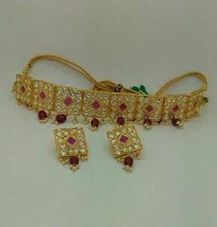 Kundan Choker Nacklace Set