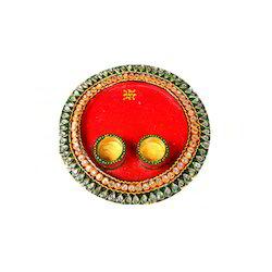 Red Pooja Thali