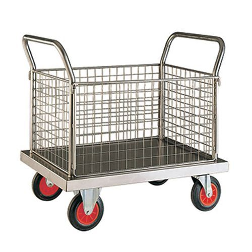 stainless steel laundry trolley at rs 18000 piece laundry carts