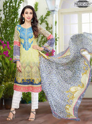 Cotton Embroidery Dress Material