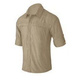 Mens Full Sleeve Hiking Shirt - Crockery Beige