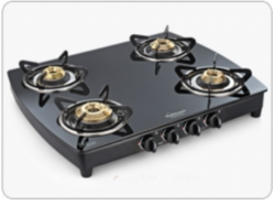 Sunflame Crystal Plus 4B BK Glass Cooktop