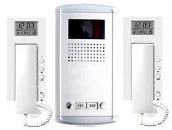 White Building Intercom System