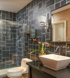 Black Slate Stone Bathroom Tiles
