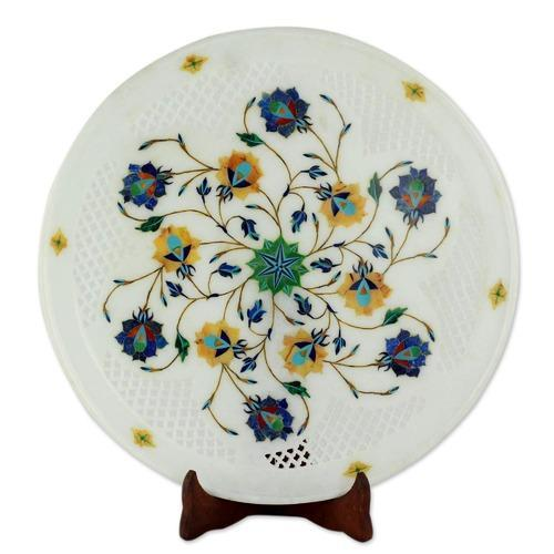 Marble Stone Inlaid Plate, Wedding Gifts