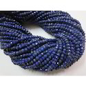 Natural Lapis Lazuli Rondelle Beads Faceted