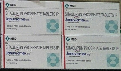 Januvia 100mg Tablet (Sitagliptin), Packaging Type: Strip