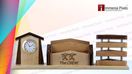 Unique Wooden Pen Stand For Office Use & Ideal For Gifting