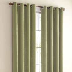 Eyelet White Cotton Canvas Window Curtain, For Home