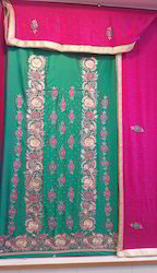 Unstitched Crepe Embroidered Suits