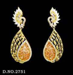 Antique Cubic Zircon Earrings