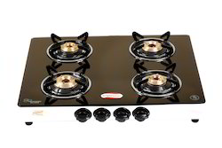 Appliance Kraft Stainless Steel 4 Burner Glass Gas Stove, Size: 625 X 490 X 50, for Home
