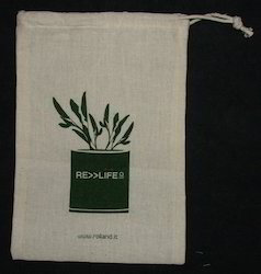 Recycled Organic Cotton Drawstring Pouch