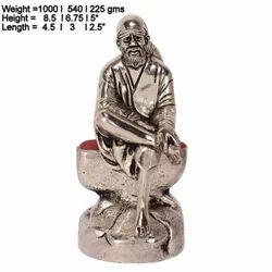 Metal Sai Baba Statue