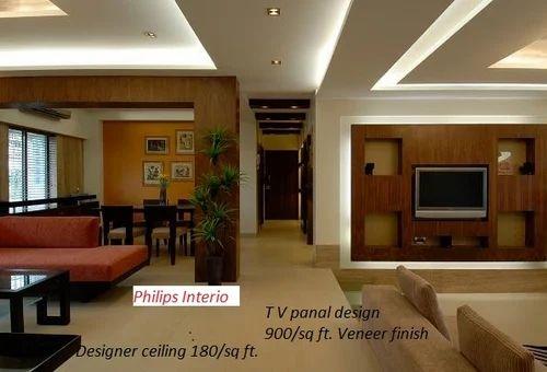 TV Panel Design Veneer Finish Philips Interiors International