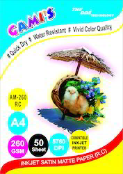 Gami's 260gsm A4 RC Satin Matte Photo Paper