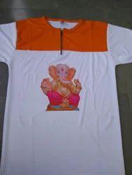 Women Synthetic Ganpati Special T Shirt, Size: xxxl