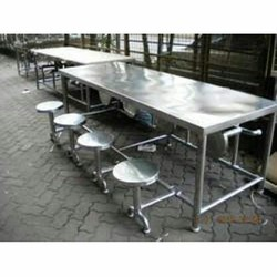 Stainless Steel Stainless Steel Ss Dining Table, Shape: Rectangular