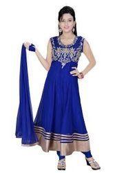 Blue, Exclusive Long Anarkali Suit