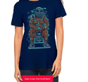 Blue Cotton Ladies Designer T Shirt