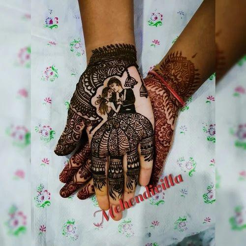 engagement mehendi for bride