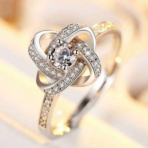 designer diamond ring at rs 35000 piece diamond rings