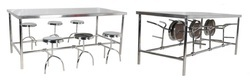 Decorative Steel Canteen Table, Seating Capacity: 6 Seater