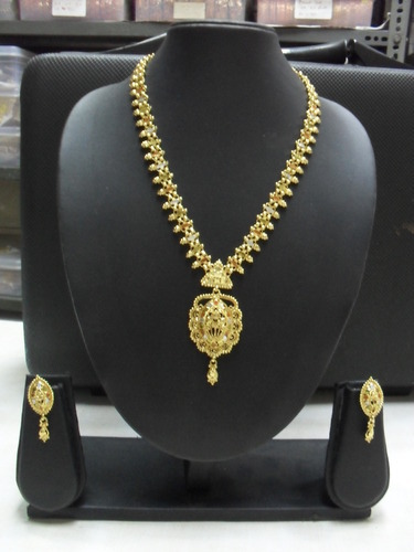 One gram gold plated chandan haar at rs 1250 set gold plated one gram gold plated chandan haar mozeypictures Image collections