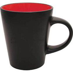 Ceramic Black & Red Plain Mugs