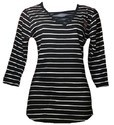Black And White Strips Women T Shirt