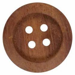 Wooden Round Button, Size : 10 - 20 mm