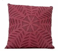 Organdi On Cotton Applique Cutwork Cushion Cover