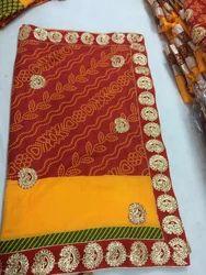 Cotton Work Saree