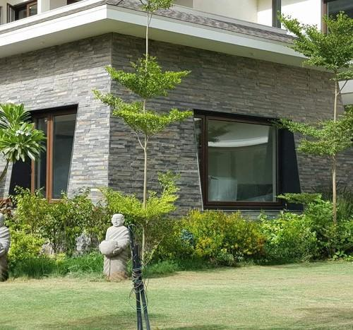 Front Elevation Stone Cladding : Grey front elevation wall cladding tiles rs