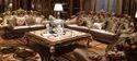 6 Seater Antique Brunell Wooden Designer Sofa Set For Home