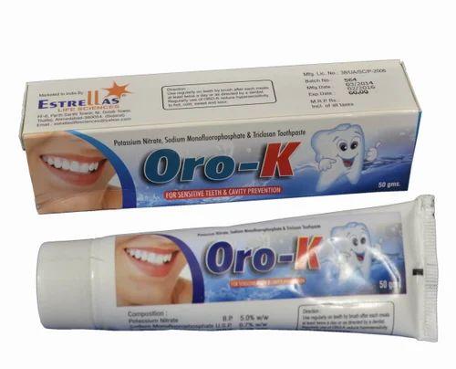 Oro-k Dental Paste, Pack Size: 50 gm