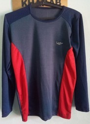 YAARA Half and Full Sleeves Blue Sport T- Shirt
