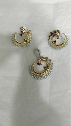 Silver Plates Earring