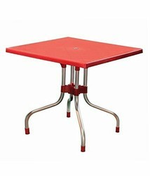 Red Supreme Folding Restaurant Table for Cafe Restaurant Office Pantery