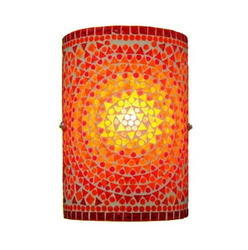 Orange Mosaic Wall Lamp