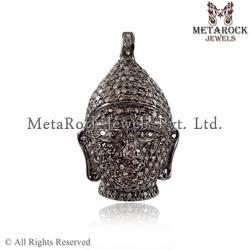 Pave Diamond Buddha Charms Pendants