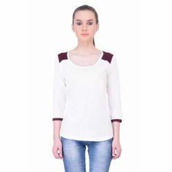 Round Neck Women Full Sleeve  T Shirts