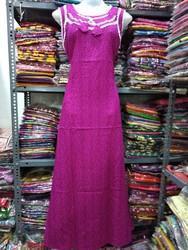 Cotton Half Sleeves Ladies Fancy Nighty 99927f92c
