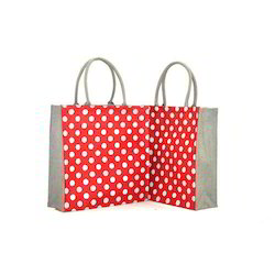 Jute Polka Dots Bag