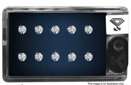 Natural Diamonds Real Natural Diamond, Size: 1.30 Mm Diameter, Weight: 0.10 Carats G-h / Vs