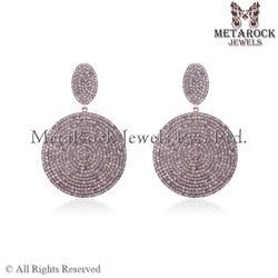 New Design Pave Diamond Earring
