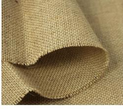 Brown Casual Poly Coated Jute Fabric