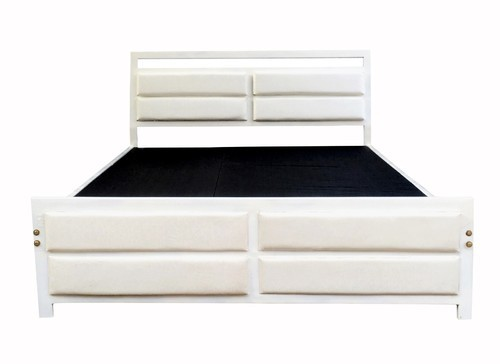 Metrocraft 4 square Queen Size Metal Bed at Rs 8800 /1 piece   Dhatu ...